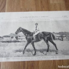 Arte: 1884-GRABADO ORIGINAL.CABALLOS.HIPÓDROMO.PARIS.LITTLE-DUCK.CUADRA DEL DUQUE DE CASTRIES.GRAND-PRIX. Lote 155895250