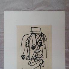 Arte: ANTONIO SAURA: RETRATO DE MUJER CON SOMBRERO, PLANCHA 7º RETRATO. Lote 229742630