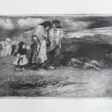 Arte: RICARDO BAROJA (HUELVA 1879-1954) CAMINANTES, LA BUSCA: GRABADO 13X22 PAPEL 38X56CMS. CERTIFICADO. Lote 156670534