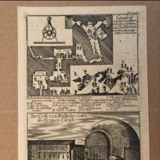 Arte: SOBRE EL NACIMIENTO Y MUERTE DE JESUCRISTO, HACIA 1700. ANÓNIMO. Lote 156704468