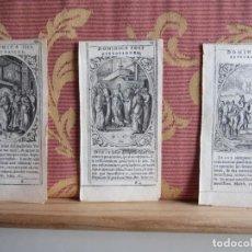 Arte: 1580-3 PEQUEÑOS GRABADOS ORIGINALES RELIGIÓN.JESUCRISTO.BIBLIA.POR PIETER BORCH. Lote 156710678