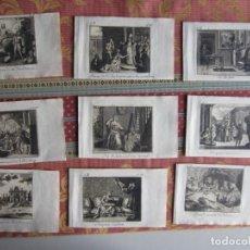 Arte: 1770-9 GRABADOS ORIGINALES DIVERSOS.ANIMALES.RELIGIÓN.MUJERES.FANTASÍA.POR G. BÖHMER. Lote 156711894