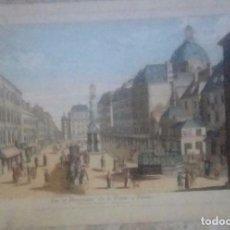 Arte: GRABADO ILUMINADO .ANTIGUA VISTA OPTICA S.XVIII. Lote 156744938
