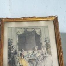 Arte: ANTIGUO GRABADO GALANTE DE 1776. Lote 156830429