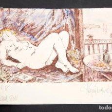 Arte: PAGANS MONTSALVATJE - AGUAFUERTE ILUMINADO A MANO. Lote 157007282