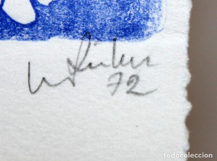 Arte: EUGENÈ FIDLER - FELICITACIÓN DE NAVIDAD DE 1972 - LINOGRABADO - 22/30. DEDICADO A JOAN GASPAR. - Foto 4 - 157689838