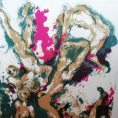 Arte: LITOGRAFÍA FIRMADA POR LUIS GARCÍA OCHOA PERFECTAMENTE ENMARCADA. Lote 158022176