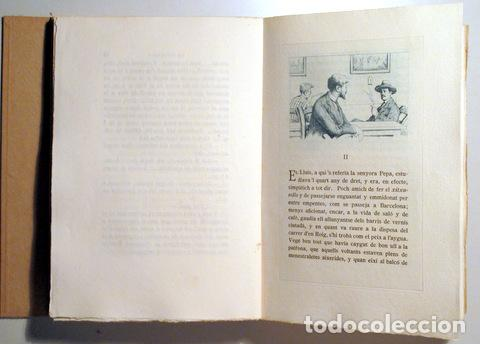 Arte: OLLER, Narcís - URGELLÉS, M. - LA PAPALLONA - Novela de costums - Barcelona 1924 - 20 aiguaforts - P - Foto 3 - 158385865