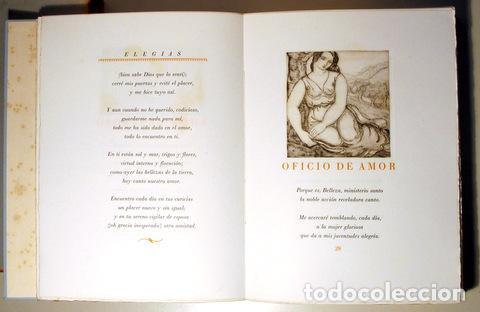 Arte: MARQUINA, Eduardo - ALBÉNIZ, Laura - ELEGÍAS - Barcelona 1948 - Muy ilustrado - Puntas secas - Foto 3 - 158385893