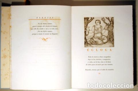 Arte: MARQUINA, Eduardo - ALBÉNIZ, Laura - ELEGÍAS - Barcelona 1948 - Muy ilustrado - Puntas secas - Foto 4 - 158385893
