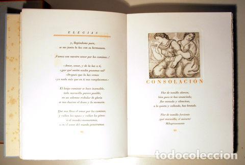 Arte: MARQUINA, Eduardo - ALBÉNIZ, Laura - ELEGÍAS - Barcelona 1948 - Muy ilustrado - Puntas secas - Foto 5 - 158385893