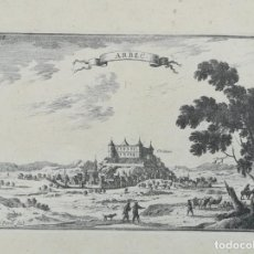 Arte: GRABADO DE ARBECA - BEAULIEU - AÑO 1707. Lote 158529542