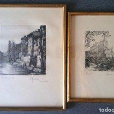 Arte: LOTE GRABADOS ORIGINALES FIRMADOS CUENCA SEGOVIA. Lote 158553570