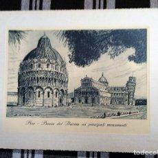 Arte: GRABADO DE PISA PIAZZA DEL DUOMO COI PRINCIPALI MONUMENTI . Lote 158896906