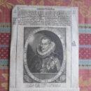 Arte: 1627-REY DE ESPAÑA FELIPE III. GRABADO ORIGINAL. Lote 158906442