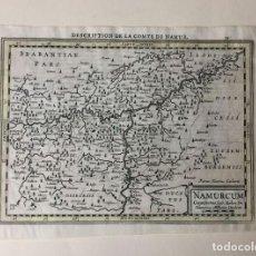 Arte: UN MAPA EDITADO EN 1630 MUY DETALLADO SOBRE EL CONDADO DE NAMUR, BÉLGICA.. Lote 159288578