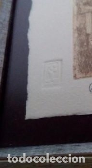 Arte: BONITO GRABADO DEL TEATRO ROMANO DE CARTHAGO NOVA ED. LIMITADA A SOLO 90 PIEZAS NUMERADO Y FIRMADO - Foto 4 - 223637538