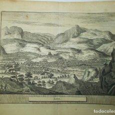 Arte: AÑO 1707. VISTA DE LOJA, GRANADA (LOXA). ORIGINAL.. Lote 159493290
