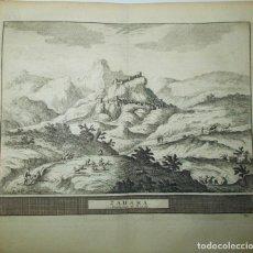 Arte: AÑO 1707. VISTA DE ZAHARA DE LA SIERRA, CÁDIZ. MONTAÑAS DE RONDA.. Lote 159494122