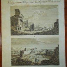 Arte: AÑO 1790. RUINAS ROMANAS DE SAGUNTO. ORIGINAL. PLANCHA CON 2 GRABADOS. Lote 159497766