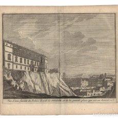 Arte: AÑO 1707. VISTA DE TOLEDO. ALCÁZAR. VUE D`UNE FAÇADE DU PALAIS ROYAL DE TOLÈDE.. Lote 159500298