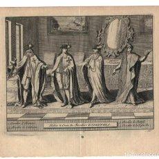 Arte: AÑO 1707. CABALLEROS ESPAÑOLES. ORDEN DE ALCÁNTARA, CALATRAVA, TOISÓN DE ORO. VESTIMENTA. Lote 159501194