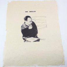 Arte: MODEST CUIXART, GRABADO SOBRE PAPEL JAPÓN, 1967, HOMENAJE A JOSÉ LUIS DE DELÁS, FIRMADO A PLANCHA.. Lote 159626142