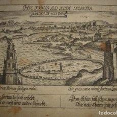 Arte: GRABADO DE CÁDIZ, ANDALUCÍA, ORIGINAL, FRANKFURT, 1630, MEISNER, RARÍSIMO, BUEN ESTADO. Lote 159687882