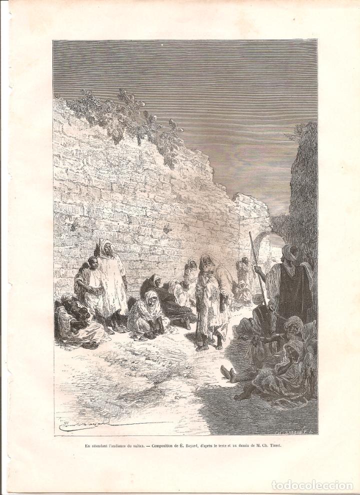 3300. MARRUECOS. HABITANTES (Arte - Grabados - Modernos siglo XIX)