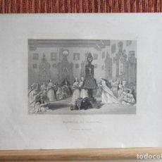 Arte: 1848-GRABADO ORIGINAL. CONVENTO DE MONJAS EN CARMONA. SEVILLA. Lote 159741970