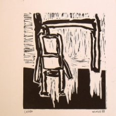 Arte: MINGO G. BORRULL. GRABADO CADIRA, SILLA. 1990. FIRMADO A MANO. 25X24 CM. BUEN ESTADO.. Lote 159881462