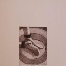 Arte: CONCHI DURO. GRABADO AL AGUATINTA PIES. PRUEBA DE AUTOR. FIRMADO A MANO. 35X26 CM. BUEN ESTADO.. Lote 159882166