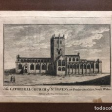 Arte: GRABADO. THE CATHEDRAL CHURCH OF ST. DAVID´S IN PEMBROKESHIRE. 1785. Lote 159956238