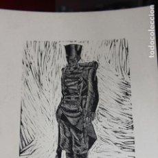 Arte: XILOGRAFÍA TEMA MILITAR SAÍNZ RUIZ. Lote 160022654