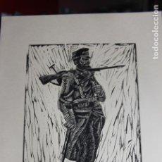 Arte: XILOGRAFÍA TEMA MILITAR SAÍNZ RUIZ. Lote 160022762