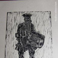 Arte: XILOGRAFÍA TEMA MILITAR SAÍNZ RUIZ. Lote 160022874