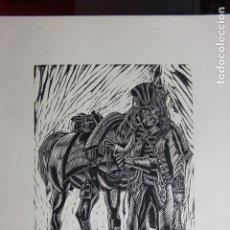 Arte: XILOGRAFÍA TEMA MILITAR SAÍNZ RUIZ. Lote 160023010