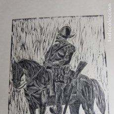 Arte: XILOGRAFÍA TEMA MILITAR SAÍNZ RUIZ. Lote 160023454