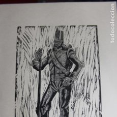 Arte: XILOGRAFÍA TEMA MILITAR SAÍNZ RUIZ. Lote 160023526