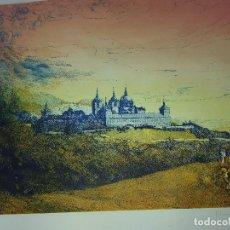 Arte: MONASTERIO DE SAN LORENZO DE EL ESCORIAL-GRABADO CLARA GANGUTIA. Lote 160052086