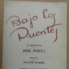 Arte: IMPRESO PROMOCIONAL *BAJO LOS PUENTES* 4 HOJAS Y TAPAS. MEDS: 24X33 CMS. AÑO 1946.. Lote 160161070