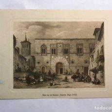 Arte: GRABADO. PLAZA DE LOS MOMOS ZAMORA SIGLO XVIII MEDIDAS: 16,5 X 12,5 CM.,. Lote 160176962