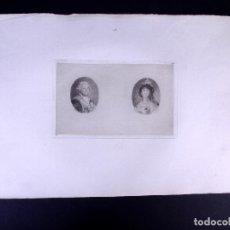 Arte: CARLOS IV Y MARÍA LUISA DE BORBÓN. AGUAFUERTE ORIGINAL Nº 17 DE LEMUS. 1876. Lote 160216222