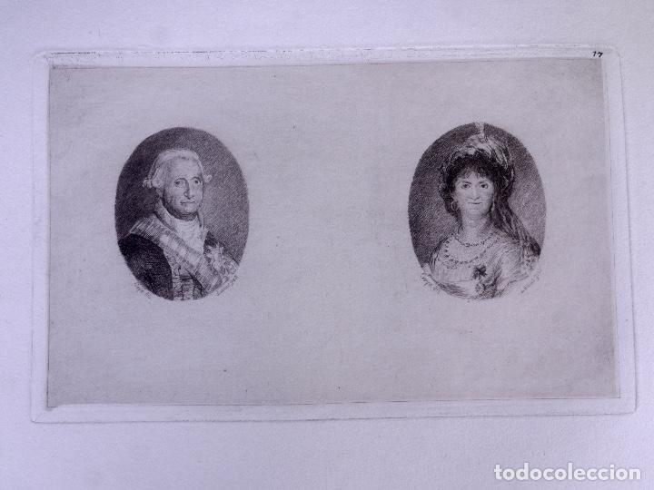 Arte: CARLOS IV Y MARÍA LUISA DE BORBÓN. AGUAFUERTE ORIGINAL Nº 17 DE LEMUS. 1876 - Foto 2 - 160216222