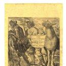 Arte: GRABADO CALCOGRAFICO LES ADVANTURES DU DOM QUIXOT DE LA MANCHE. DON QUIJOTE. S. XVII, FRANCIA. Lote 160220740