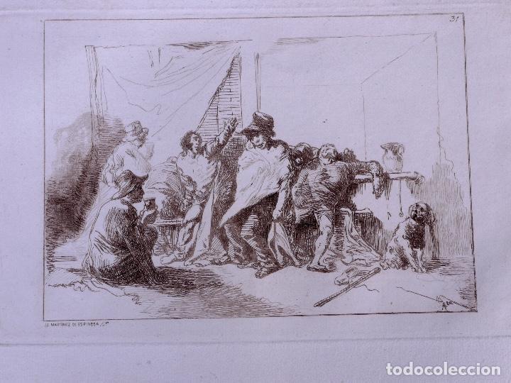 CAPRICHO. AGUAFUERTE ORIGINAL Nº 31 DE JOSE MARTINEZ DE ESPINOSA. 1878 (Arte - Grabados - Modernos siglo XIX)