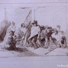 Arte: CAPRICHO. AGUAFUERTE ORIGINAL Nº 31 DE JOSE MARTINEZ DE ESPINOSA. 1878. Lote 160223974
