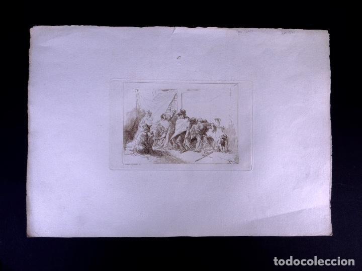 Arte: CAPRICHO. AGUAFUERTE ORIGINAL Nº 31 DE JOSE MARTINEZ DE ESPINOSA. 1878 - Foto 2 - 160223974