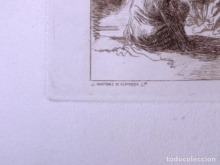 Arte: CAPRICHO. AGUAFUERTE ORIGINAL Nº 31 DE JOSE MARTINEZ DE ESPINOSA. 1878 - Foto 4 - 160223974