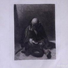 Arte: MENDIGO. AGUAFUERTE ORIGINAL Nº 8 DE TUBAU Y ALBERT. 1876. Lote 160229414